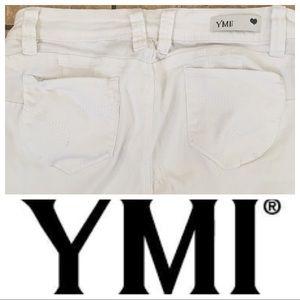 YMI White Skinny Jeans Size 11